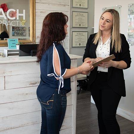 New patient application at Reach Chiropractic in Kennesaw