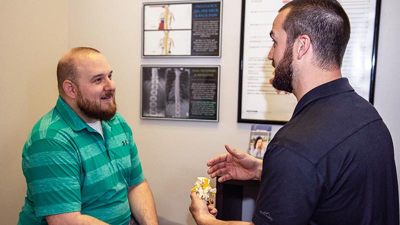 Consultation at Reach Chiropractic in Kennesaw